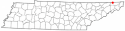 Location of Bloomingdale, Tennessee