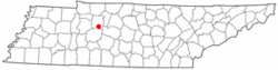 Location of Burns, Tennessee