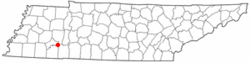 Location of Milledgeville, Tennessee