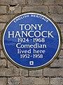 TONY HANCOCK 1924-1968 Comedian lived here 1952-1958.JPG
