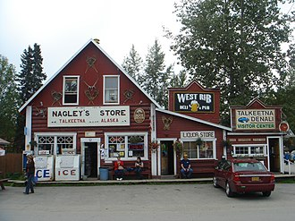 Talkeetna, Alaska - Nagley's Store. The Nagley family are pioneer residents of Talkeetna. They were also partners in the Westward Hotel in Anchorage, a predecessor to today's Hilton Anchorage Hotel.
