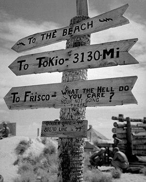 Naval Aviation Photographic Unit - Image: Tarawa sign HD SN 99 02856