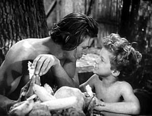 Johnny Sheffield - Sheffield and Johnny Weissmuller in Tarzan Finds a Son!