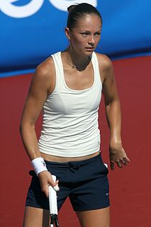 Tatiana Perebiynis Ukrainian tennis player
