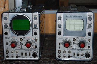 Tektronix - Tektronix 321- Their First Battery Operated Transistor Oscilloscope. LEFT- Later Version RIGHT- Earliest Version