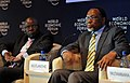 Tendai Biti and Kgalema Motlanthe, 2009 World Economic Forum on Africa.jpg