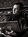 Teodor Currentzis. The conductor. In PermOpera with his vinyl record. 2016.jpg