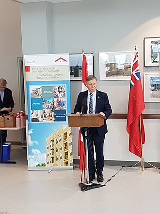 Terry Duguid - Duguid at a 2017 CMHC funding announcement as Parliamentary Secretary to the Minister of Families, Children, and Social Development.