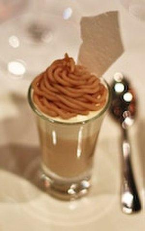 Marron glacé - Mont Blanc dessert