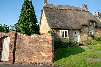 "Stretton-on-Fosse - ""Tea Cosy Cottage"", a Grade II listed building, built in the 17th century and later modified"