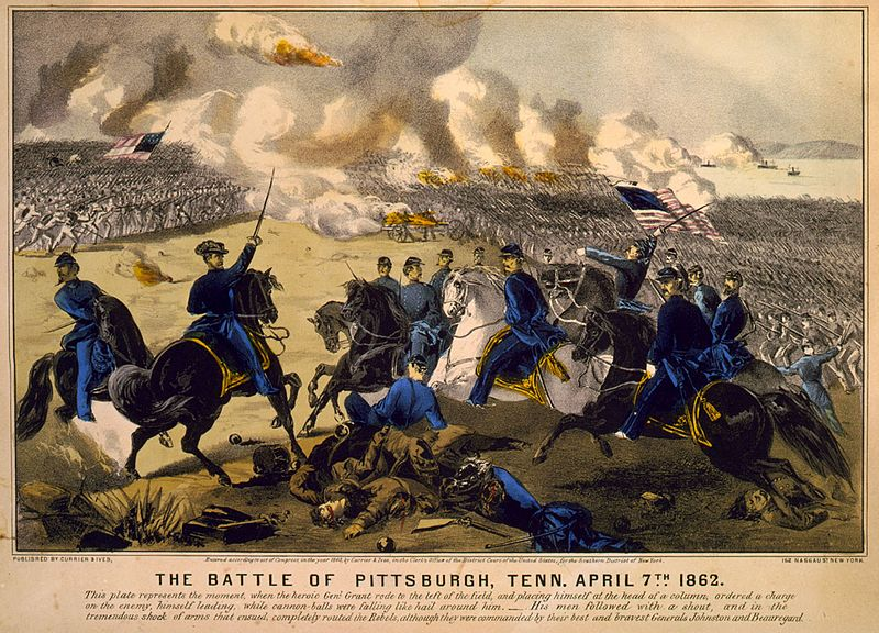 File:The Battle of Pittsburgh, Tenn. April 7th, 1862 - Currier & Ives.jpg