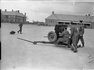 Ordnance QF 2-pounder - Mark I carriage, April 1941