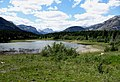 The Canadian Rockies at Middle Lake, Alberta.jpg