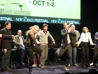 "Arrested Development (TV series) - The cast does the ""chicken dance"" at the Arrested Development reunion in October 2011."