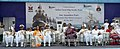 The Chief Minister of Gujarat, Smt. Anandiben Patel along with the Chief of Naval Staff, Admiral R.K. Dhowan and other dignitaries at the commissioning ceremony of INS Sardar Patel, in Gujarat on May 09, 2015.jpg