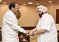 The Chief Minister of Punjab, Captain Amarinder Singh meeting the Union Minister for Urban Development, Housing & Urban Poverty Alleviation and Information & Broadcasting, Shri M. Venkaiah Naidu, in New Delhi on May 17, 2017.jpg