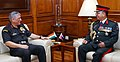 The Chief of Army Staff, Nepal Army, General Rajendra Chhetri meeting the Chief of Army Staff, General Bipin Rawat, in New Delhi on June 07, 2018.JPG