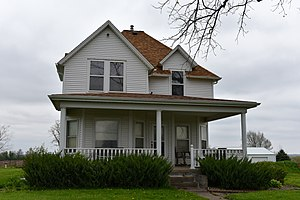 National Register of Historic Places listings in Marion County, Iowa - Image: The Evan F. Ellis Farmhouse