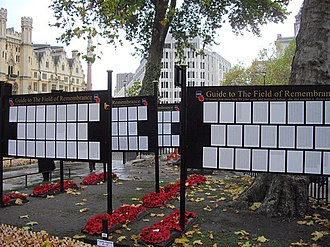 Field of Remembrance - Image: The Guides to the Field of Remembrance Westminster Abbey geograph.org.uk 1575001