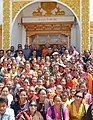 The President, Shri Ram Nath Kovind in a group photograph during his visit to the Mahabodhi International Meditation Centre, in Leh on August 21, 2017. The Governor of Jammu and Kashmir, Shri N.N. Vohra is also seen.jpg