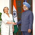 The President of the Republic of Chile, Dr. Michelle Bachelet meeting the Prime Minister, Dr. Manmohan Singh in New Delhi on March 17, 2009.jpg