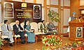 The Prime Minister, Dr. Manmohan Singh addressing at the launch of Doordarshan 19th satellite channel, DD Urdu, in New Delhi on August 15, 2006.jpg