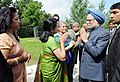 The Prime Minister, Dr Manmohan Singh meets with the families of victims during his Air India Memorial visit, at Toronto, in Canada on June 28, 2010 (1).jpg