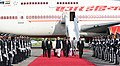 The Prime Minister, Shri Narendra Modi being received by dignitaries, on his arrival at Maldives, to attend the historic swearing-in ceremony of President-elect, Mr. Ibrahim Mohamed Solih, on November 17, 2018 (3).JPG