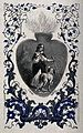 The Sacred Heart bearing a scene of a believer carrying a cr Wellcome V0035658.jpg