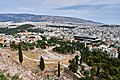 The Theatre of Dionysus, The Temple of Olympian Zeus and the Panathenaic Stadium from the Acropolis on July 16, 2019.jpg