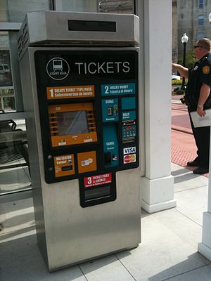 Tide Light Rail - The Tide Light Rail - Ticket Vending Machine