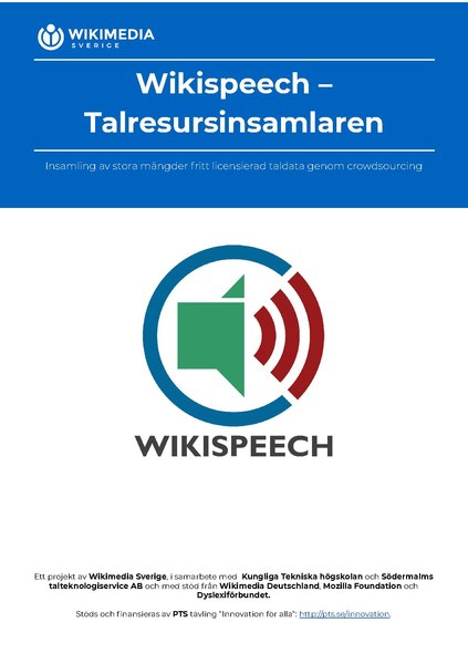 File:The Wikispeech Speech Data Collector flyer (Swedish).pdf
