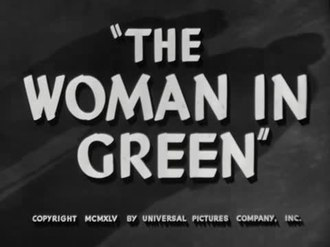 Файл:The Woman in Green (1945).webm