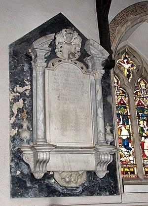 William Stanton (mason) - William Stanton, memorial to Isaac Motham and his wife in St Remigius Church, Hethersett, Norfolk, UK.