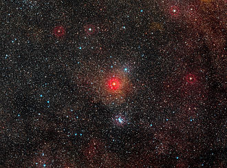 Hypergiant - Field around yellow hypergiant star HR 5171