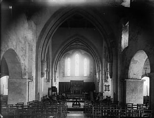 The interior of the church, Tywyn