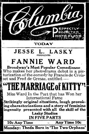 The Marriage of Kitty - Image: The marriage of kitty publicity ad