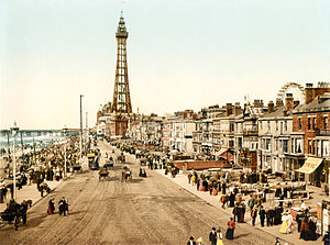 Blackpool - Photochrom of the Promenade c. 1898