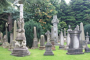 Dean Cemetery - The south-west section of Dean Cemetery