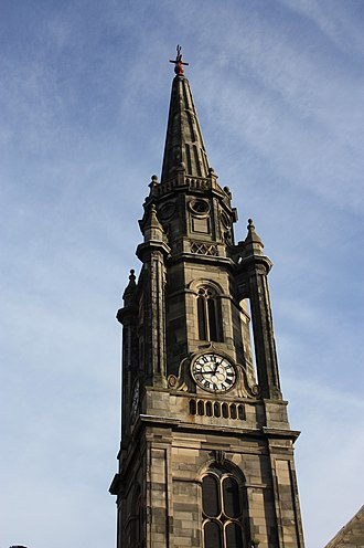 Tron Kirk - The stone spire of Tron Kirk by R & R Dickson