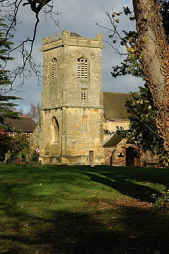 Pershore - The tower of the former St Andrew's Church, now a parish hall