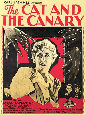 The Cat and the Canary (1927 film) - Image: Thecatandthecanary windowcard 1927