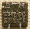 Theodoric bronze weight inlaid with silver issued by prefect Catulinus Rome 493 526.jpg