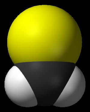 Thioformaldehyde - Image: Thioformaldehyde 3D vd W