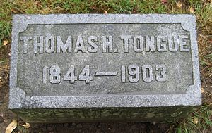 Thomas H. Tongue - Tongue's grave marker