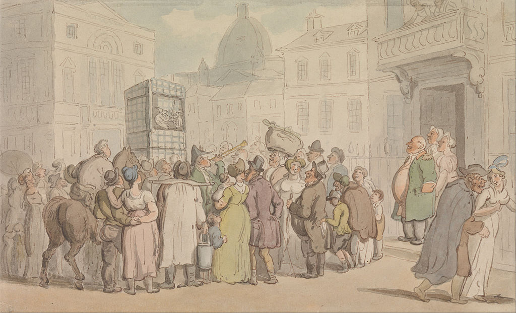 Thomas Rowlandson - A Punch and Judy Show - Google Art Project