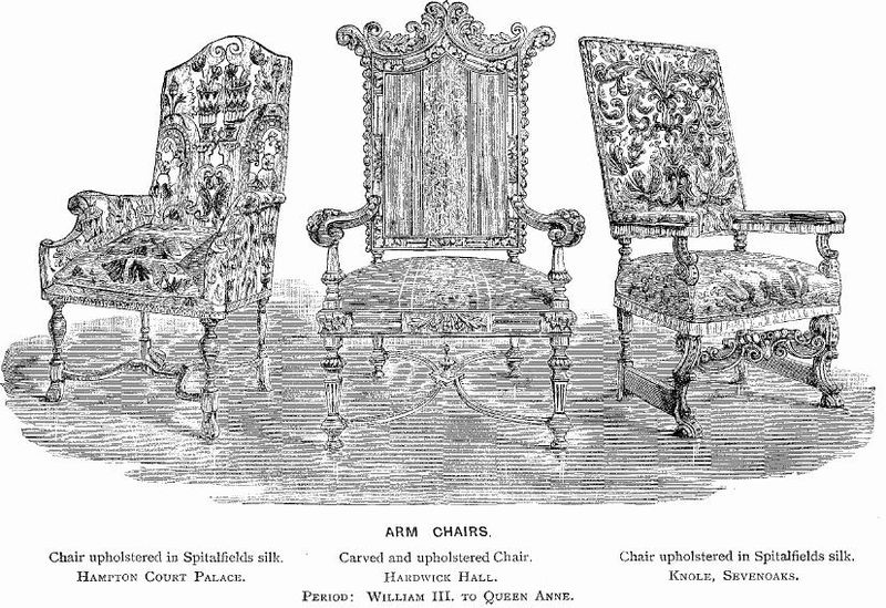 File:Three Chairs From Hampton Court, Hardwick, and Knole.jpg