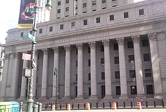 Thurgood Marshall United States Courthouse - The colonnade of Corinthian columns