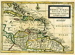 Spanish map of the Tierra Firme