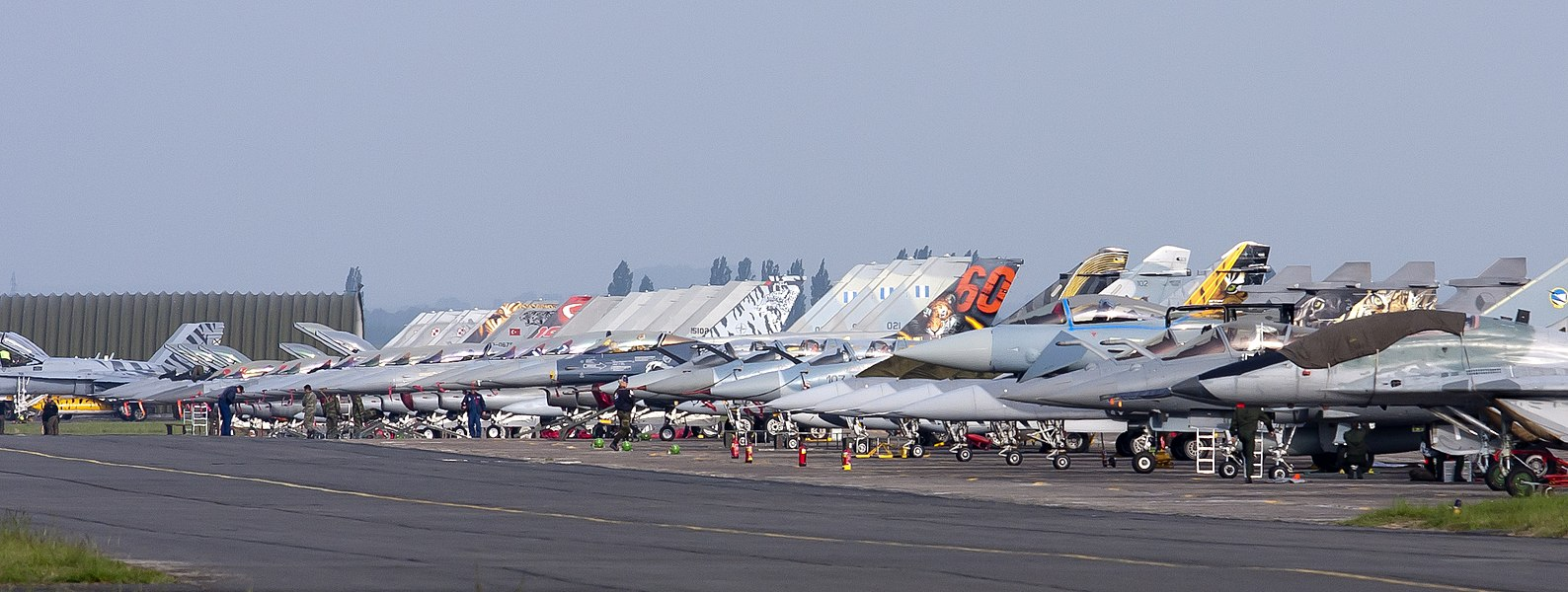 A great part of the flightline at Cambrai during the last Tiger Meet before the base closed.  16 May 2011.